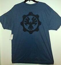 Microsoft Gears of War 4 Fenix Dark Blue T-Shirt X-Large New Shirt. COG Logo XL