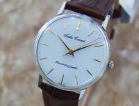 Seiko Cronos Mens 1950s Vintage Manual Stainless Steel Dress Watch Q45 33mm