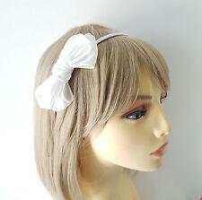 Stunning WHITE coloured double bow headband - aliceband - prom - bridal