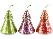 The Silver Crane Company Christmas Tins SC110332 Christmas Ornaments Set of 3