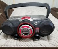 SONY CFD-G500 Boombox with Power Drive Woofer Boost AS IS CD & Tape Dont Work
