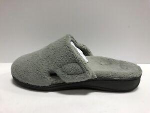 Vionic Indulge Gemma Plush Womens Slipper Light Gray 9 M