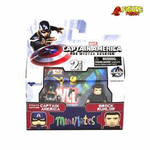 Marvel Minimates Series 55 Captain America 2 Movie Stealth Cap & Brock Rumlow