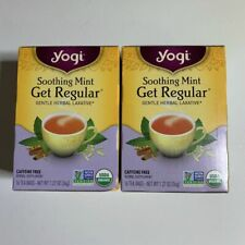 2X YOGI HERBAL TEA SOOTHING MINT GET REGULAR GENTLE LAXATIVE DISCONTINUED NIB