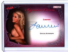 TNA Lauren 2009 Knockouts Signature Curves BLUE Authentic Autograph Card SN 6/25