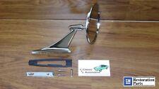 Round Bowtie Mirror Ribbed Base *GM Resto Parts Nova Chevelle Camaro Bow Tie