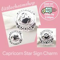 New Authentic Genuine PANDORA Silver Capricorn Star Sign Charm - 791945 RETIRED