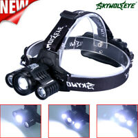 High LM Rechargeable Head Lamp LED Tactical Headlamp Zoomable 2 Charger 18650