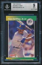 1989 Donruss Baseball's Best rookie #192 Ken Griffey Jr. rc BGS 9 Mint