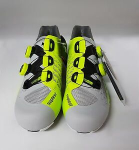 Suplest EDGE/3 Road Carbon Pro 3-Bolt Cycling Shoes Grey/NeonYellow Size 42
