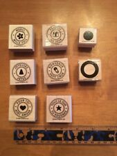 Stampin' UP Rubber Stamps Set Lot #4 French Circles Francais