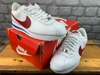 NIKE LADIES UK 6 EU 40 CORTEZ CLASSIC WHITE BLUE RED TRAINERS RRP £75 M