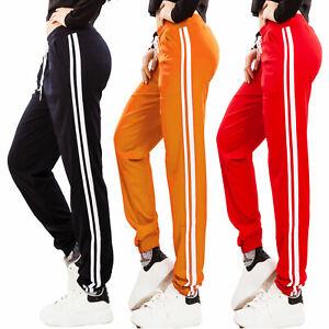 Pantaloni tuta donna fitness palestra sport righe casual laccio TOOCOOL BE-3351