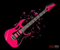IBANEZ JEMJR Pink JEM JR / UV series Steve Vai Signature Electric Guitar - NEW