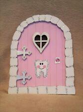 Handpainted & Decorated Glitter Pink Tooth Fairy Door, Faerie, Pixie, Elf door