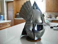 Medieval Winged Hussar Etched Steel Helmet Replica