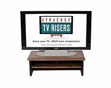 "DARK WALNUT TRIPLE TIER TV Riser-26"" w x 14"" deep x 8 1/2""high syracusetvrisers"