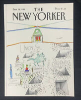 COVER ONLY ~ The New Yorker Magazine, January 19, 1981 ~ Saul Steinberg
