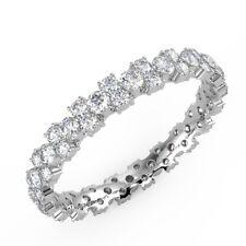 1.00 Ct Round Diamonds Garland Full Eternity Ring, UK Hallmarked White Gold
