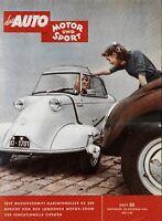 Auto Motor und Sport Poster 22/55 29.10.55 Replica Messerschmitt KR 200 Karo