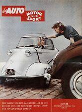 Poster Auto Motor und Sport 22/55 29.10.55 Replica Messerschmitt KR 200 Karo