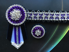Browband - Velvet & Bling & matching Lapel pin