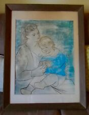 "Picasso ""Mother and Child '22"" Vintage Original 1960 Baltimore Museum Lithograph"