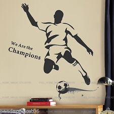 Enorme Fútbol Campeón Strike pegatinas de pared Deportes Decal Art Chicos Niños Sala De Decoración