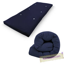 All Sizes Replacement Futon Mattress 9 Colours FREEPOST Navy Blue 1 Seater Single