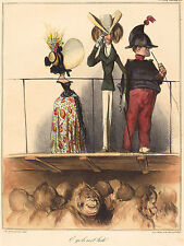 Honore Daumier Reproductions: O qu' ils sont laids - Monkeys. - Fine Art Print