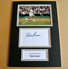 ROD LAVER HAND SIGNED AUTOGRAPH A4 PHOTO DISPLAY TENNIS CHAMPION GIFT & COA