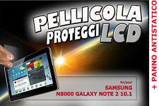 Pellicola PROTEZIONE proteggi LCD per SAMSUNG GALAXY NOTE 2 10.1 N8000