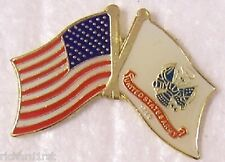 Hat Lapel Push Tie Tac Pin USA & Army Flags Crossed NEW