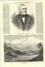 1870 Charles Green The Aeronaut Valley Of The Aconcagua Chile