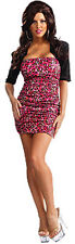 JERSEY SHORE SNOOKI STANDARD SIZE PINK LEOPARD DRESS