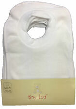 "BABY BIBS ""PACK OF 7"" TINY TED WHITE TERRY POP OVER BNWT"