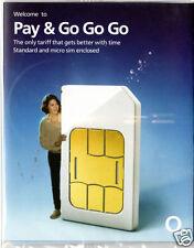 PAYG O2 MICRO SIM CARD FOR SAMSUNG GALAXY S 3 i9300 + FREE MICRO SIM ADAPTER