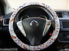 Handmade Steering Wheel Cover Kiss Hello Kitty Grey