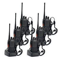 6 * Baofeng BF-888S Walkie Talkie 2 Two Way Radio Handheld Long Range GMRS
