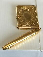 Antique Writing Pen Photo Holder & Notebook All In One Made In USA