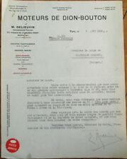Firefighting/Fireman 1922 French Fire Pump Letterhead, Pompes Dion-Bouton - Fire