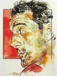 Rocky Marciano Boxing Print by Michael Mellett (MMCCBORM)