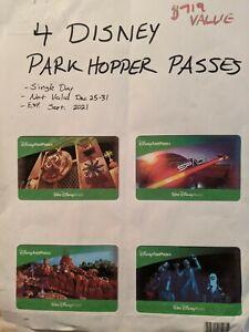 FOUR 1-Day Park Hopper FastPass+ Passes to Disney World (expires Sep. 19, 2021)
