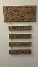 """""""Home is where the Army sends us"""" plaque"""