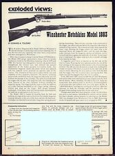 1981 WINCHESTER HOTCHKISS Model 1883 Exploded Parts List 2-pg Assembly Article
