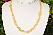 """CHARGED Citrine Crystal Chip 18"""" Necklace Polished ENERGY REIKI"""