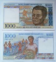 MADAGASCAR 1.000 francs=200 ariary 1995 P-76b.Plancha UNC