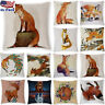 18'' Cartoon Animal Throw Pillow Case Sofa Soft Cushion Cover Cojines Home Decor