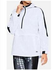 Under Armour Woman's Athletic Jacket Pullover Storm Woven Anorak White SM-XLG