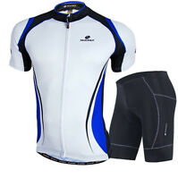 Blue Men Outdoor Short Sleeve Cycling Jersey+short QuickDry Breathable Clothing